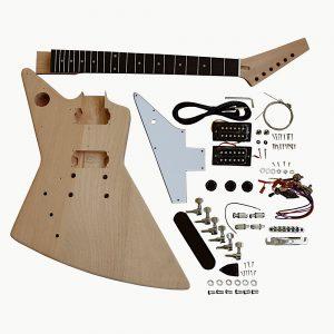 Electric Guitar DIY Kit EXP1FB Flamed Veneer Black Fitting